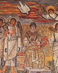 Триумфальная арка базилики Санта Мария Маджоре. 432-440 гг. Рим. Фрагмент