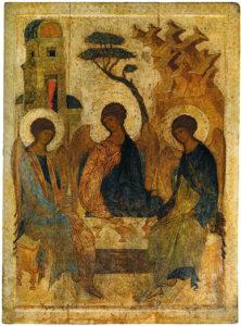 Икона Святой Троицы Андрея Рублева